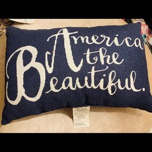 NEW *America The Beautiful* Patio Pillow